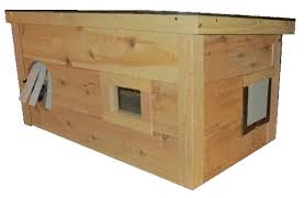 outdoor stray cat house feral shelter warm cedar durable ark work
