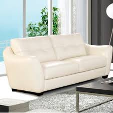 White leather couch Expensive Swink Leather Sofa Wayfair Off White Leather Sofa Wayfair