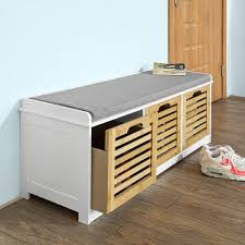 gls modern shoe bench storage ottoman review and comparison