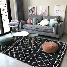 black and white rug bedroom fashion casual geometric black white grey door mat bathroom parlor living black and white rug