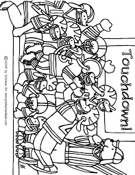 Small Picture Football Game Coloring Page Printables for Kids free word