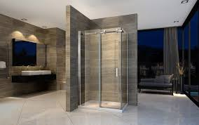 shower enclosure with fixed panel and sliding door ex802 made from safety glass with nano coating 90 x 140x 195cm