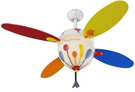 great for a kids room balloon ceiling fan by monte carlo