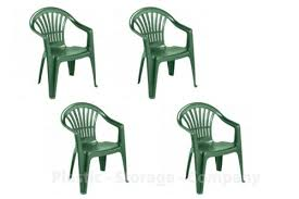 x green plastic garden chairs low