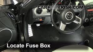 interior fuse box location 2006 2015 mazda mx 5 miata 2011 mazda locate interior fuse box and remove cover