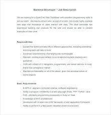 Website Programmer Job Description Front Resume Sample For Nurses