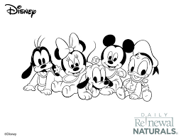 Mickey And Mini Babies For Nursery Walls Nursery Mickey Coloring
