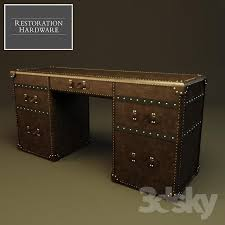 mayfair steamer trunk 5 drawer desk restoration hardware