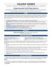 Nanny Housekeeper Resume Examples Skills Job Examplele Objectives