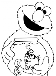 Baby Cookie Monster Coloring Pages Printable Coloring Page For Kids