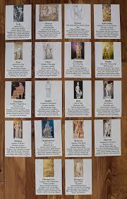 greek mythology god and goddess cards com greek mythology god and goddess cards full set