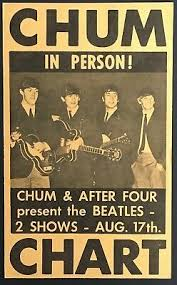 1965 Chum Chart After 4 Present The Beatles At Maple Leaf Gardens Toronto Ebay
