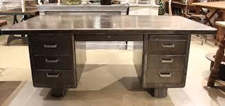 vintage steel furniture. exellent furniture french vintage industrial strafor steel desk for furniture