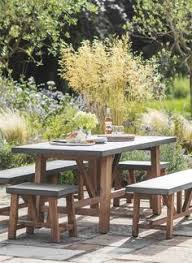 a small chilson set with table two benches and two stools all with cement fibre