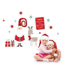 Christmas Decorations For The Wall Christmas Wall Stickers Wall Art Kids