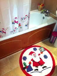 santa shower curtain shower curtain all set for holiday bathroom with snowman shower curtain and rug santa shower curtain