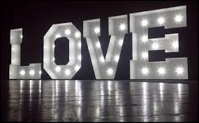 lighting letters. light up love letters south wales lighting t