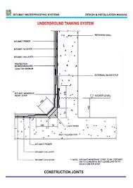 Concrete Cistern Tank Design Underground Water Tank Typical Section Building Foundation