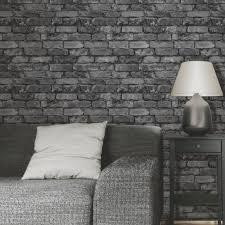 grey brick wallpaper bedroom ideas. fine-decor-rustic-brick-effect-wallpapers-feature-wall- grey brick wallpaper bedroom ideas u