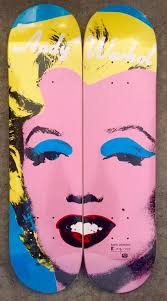 marilyn a set of two skate decks art by andy warhol
