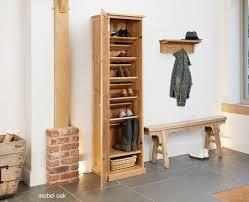 image baumhaus mobel. Baumhaus Mobel Oak Tall Shoe Cupboard (COR20E) Image