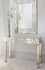 mirror console table. Geometria Gold \u0026 Mirrored Console Table Mirror Set R