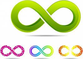 infinity symbol. sleek style infinity symbols symbol e
