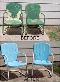 lyndis projects outdoor metal chairs get a new look inside spray painting metal furniture