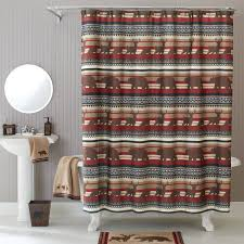 better homes and gardens deer stripe fabric shower curtain landscaping decorating better homes and gardens