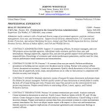 Gallery Of Federal Resume Examples