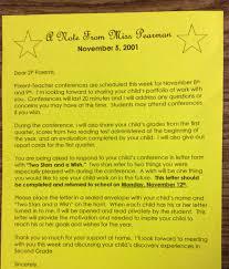 parent teacher conference letter to parents examples the teacher dish parent teacher conference tips