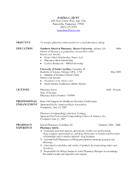 Objective For Pharmacy Resume Resume For Your Job Application