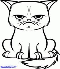 easy grumpy cat drawing. Beautiful Easy Image Result For Cats Drawings Easy Intended Easy Grumpy Cat Drawing