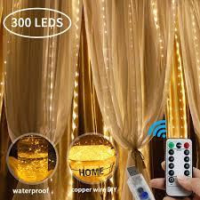 Curtain String Led Lights Lobkin 300 Led Window Curtain String Light Fairy Lights Curtain String Led Light Usb Remote Control Warm White