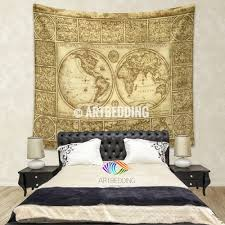 Old World Bedroom Decor Vintage World Map Wall Tapestry Old World Map Wall Hanging