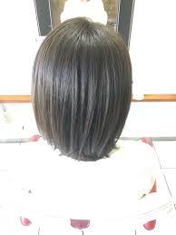 硬い直毛の髪質で少し生えくせのあるお客様のヘアスタイル ブログ 堺市