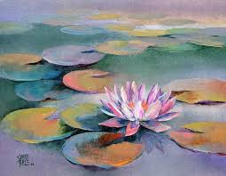 water lilies 15 painting by artist swati kale oil canvas