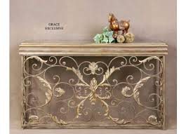 metal console table. uttermost valonia embossed metal console table magnifier