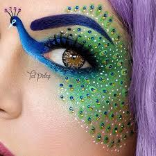 this deled pea eye makeup would be a great alternative to a costume pea art makeup crazy