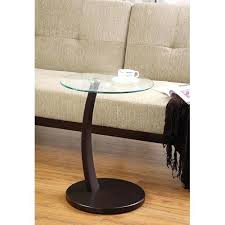 round accent table with glass top coaster round accent table with glass top and cappuccino base small round glass top accent table