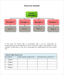 Calling Tree Template Excel 11 Printable Phone Tree Templates Doc Excel Pdf Free