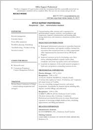 Resume Template On Microsoft Word Free Resume Example And