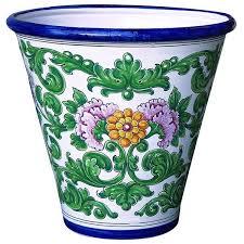 spanish design garden pot from spain