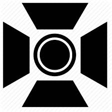 icon lighting. film lighting movie production icon n