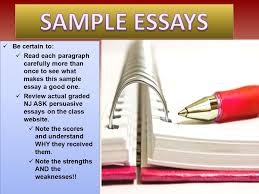 Persuasive writing rubric nz   Fresh Essays NJASK Review PowerPoint Extra Practice at Home as needed ppt SlidePlayer