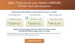 amica life insurance quote