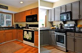Painted Old Kitchen Cabinets Painting Old Kitchen Cabinets Before After Pictures Janefargo