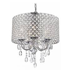 extravagant drum shade chandelier with crystals metal pendant lights and drums good looking crystal design cream