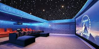 home theater room lighting ideas custom led alcove with star ceiling