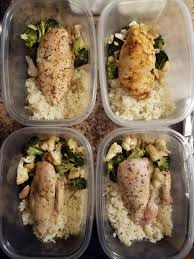 Cook for about 5 minutes, stirring occasionally, until the chicken is browned and mostly cooked through. Finally Back To Meal Prepping After Being Lazy For Over A Month Lemon Pepper Chicken Roasted Broccoli And Cauliflower And Rice Mealprepsunday